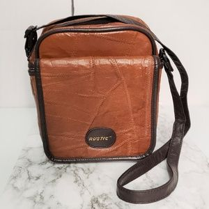 Vintage Rustic Distressed Leather Padded Tech Bag